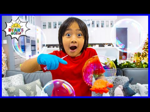 How to make DIY Bubbles that don't pop! Easy Science Experiments for kids!