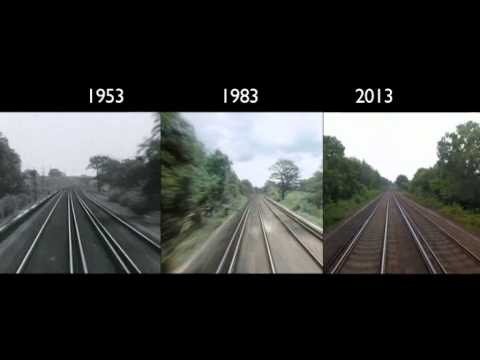 Synchronized, Timelapse Video Shows Train Traveling from London to Brighton in 1953, 1983 & 2013