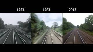 London to Brighton Train Journey: 1953 - 2013