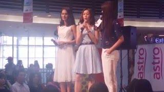 Astro国际华裔小姐竞选2014 ~ 10强佳丽见面会@Paradigm Mall  问答环节 (Jeena黄润媚)
