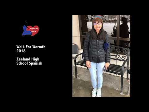 Walk For Warmth 2018 – Young Woman From Zeeland High School