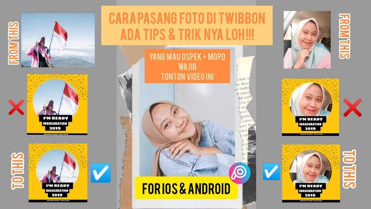 cara pasang foto twibbon di picsart for ios android paling mudah