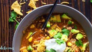 Chicken Tortilla Soup | Delicious Chicken Tortilla Soup Slow Cooker Recipe