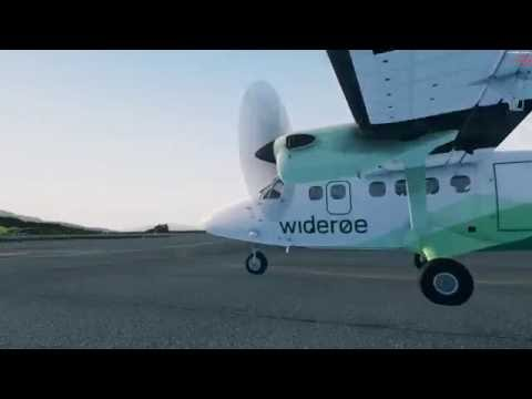 FTX Norway Part 2: ENNK ENSH - Wideroe Twin Otter flight in the best scenery