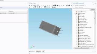 How to Add Built-In Materials in COMSOL Multiphysics