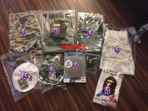 052 Bape Shaolin | Bape | A Bathing Ape | Unboxing | Clothing | Collection | Outfit | Pickup |Review