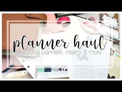 Planner Haul | Inserts, Stationery, Planners & MORE! | February 2018