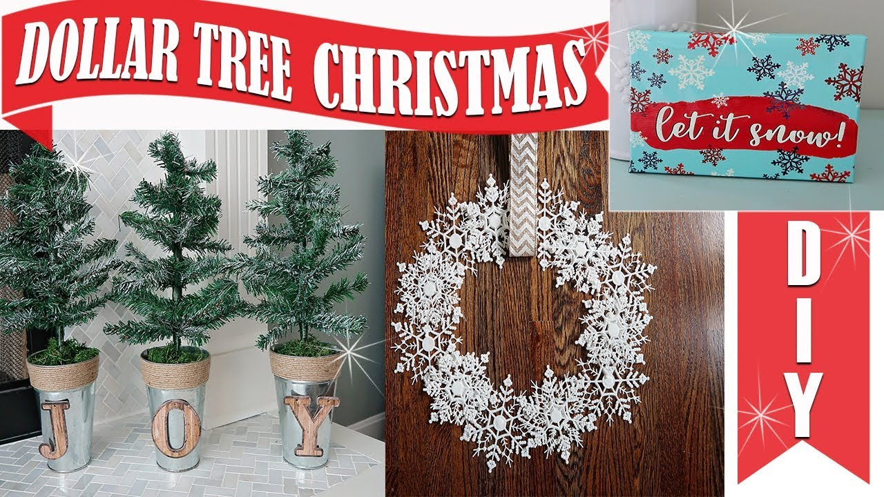 dollar tree diy christmas decor 2018