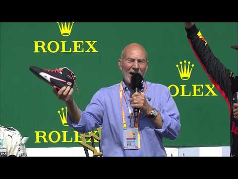 Sir Patrick Stewart's Shoey with Ricciardo | 2017 Canadian Grand Prix