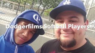 Dodgerfilms Softball Players Then and Now