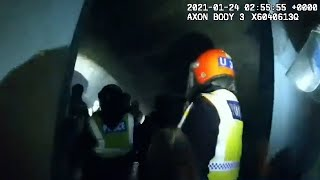 video: Police issue £15,000 in fines as they break up rave in packed Hackney railway arch