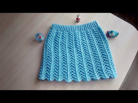 Вязаная юбка крючком для девочки 5 лет