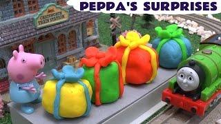 peppa pig play doh surprise toys thomas friends frozen princess disney toys pepa play doh