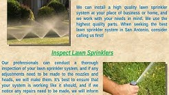 Lawn Sprinkler Repair in San Antonio TX