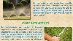 Lawn Sprinkler Repair in San Antonio TX