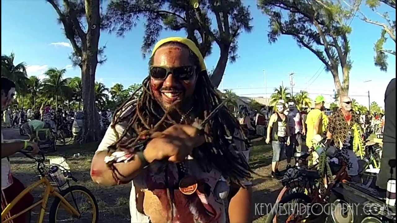 zombie bike ride fantasy fest key west youtube