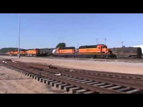 BNSF General Freight, Local and Power move in 12 minuets! Tulsa, OK 4/23/17 vid 1 of 7