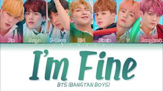 Cover images BTS (방탄소년단) - I'm Fine (Color Coded Lyrics Eng/Rom/Han/가사)