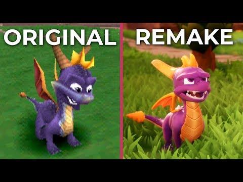 Spyro the Dragon – PSX Original vs. PS4 Reignited Remake Graphics Comparison