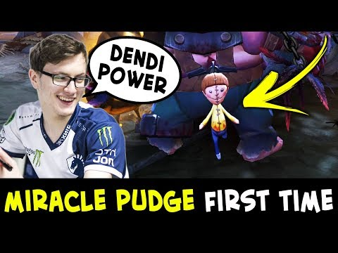 Miracle Pudge arcana FIRST time — DENDI set power
