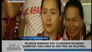 Palarong Pambansa 2018   Calabarzon Secondary Elementary girls, pasok sa semi finals ng volleyball