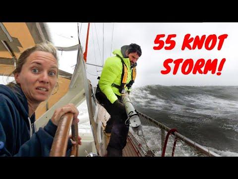 55 KNOT STORM + HUGE WAVES  😬💨⛵ Storm that Broke our Pole  - SV Delos Ep. 314