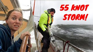 55 KNOT STORM + HUGE WAVES  😬💨⛵ Storm that Broke our Pole  - SV Delos Ep. 314