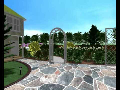 видео: Дизайн сада с патио и бассейном. Ландшафтный дизайн