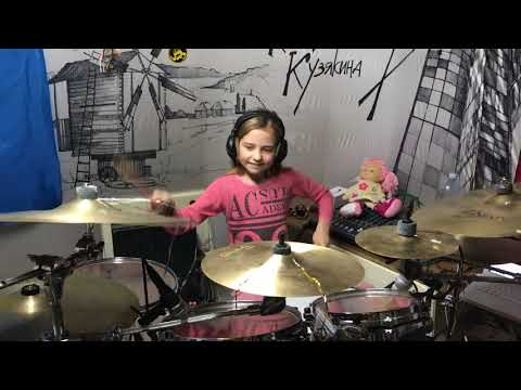 Wizards In Winter by Trans-Siberian Orchestra - Drum Cover Kate Kuziakina, age 9 (Tama Drum kit)