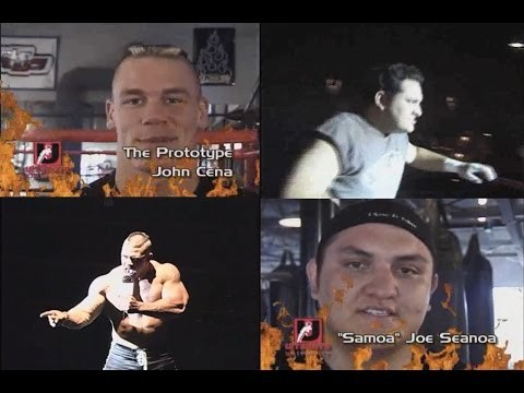 John Cena & Samoa Joe At Wrestling School With Frankie Kazarian & Christopher Daniels in 2000