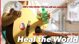"""This is my instrumental acoustic guitar #guitareoke minus one (no vocals) cover of michael jackson's """"heal the world"""" f$*k you covid 19 we will over you!!!!c..."""