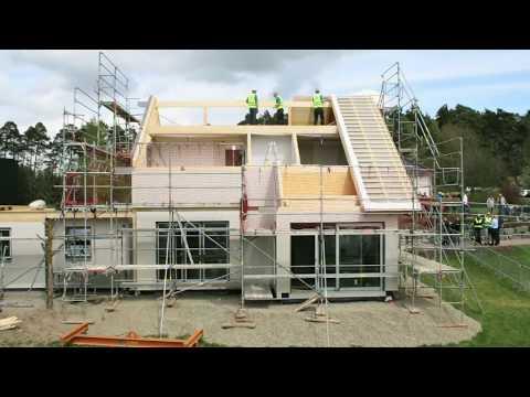 Leben und Wohnen in Mainfranken Juni 2017: Fertighausproduktion bei Hanse Haus in Oberleichtersbach