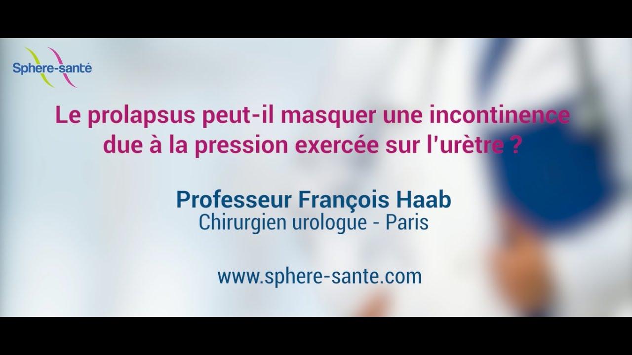 Prolapsus Et Incontinence Due à La Pression Sur Lurètre Youtube