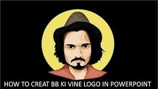 Comment Créer BB KI VINE logo dans PowerPoint | Professionnel PowerPoint (PPT)