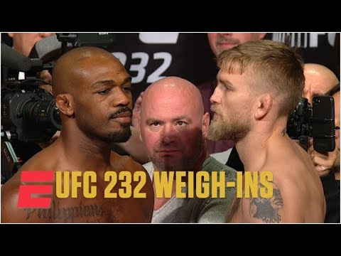 Jon Jones avoids Alexander Gustafsson at UFC 232 Weigh-Ins | MMA