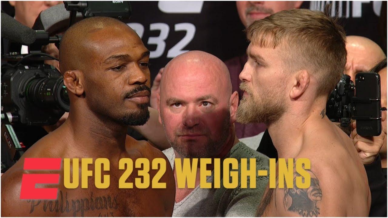 Jon Jones avoids Alexander Gustafsson at UFC 232 Weigh-Ins | MMA
