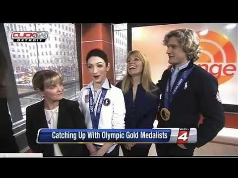 Meryl Davis & Charlie White plus Moms WDIV Post Olympic 2014 interview