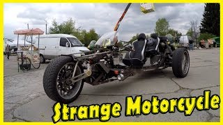 Most Strange and Unusual Design Motorcycle Review 2018. Crazy and Funny Looking Tricycle