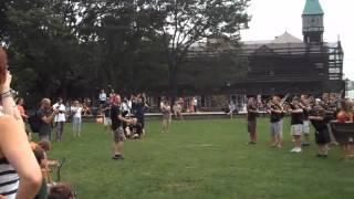 Pipe Band Flash Mob at Battery Park, 8/25/12.