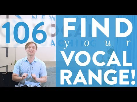 """Ep. 106 """"Find Your Vocal Range!"""" - Voice Lessons To The World"""
