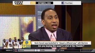 Stephen A. Smith Goes Off On Kevin Durant Over OKC Thunder!