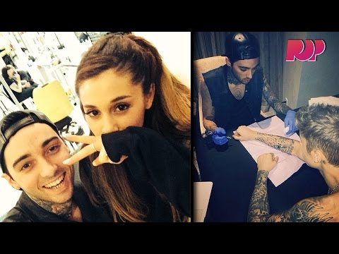 Tattooing Justin Bieber And Ariana Grande With Romeo Lacoste