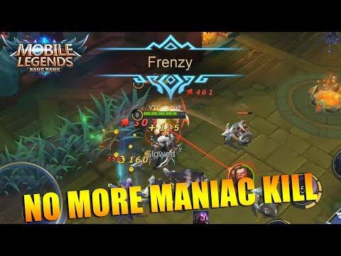 NO MORE MANIAC KILL! NEW VOICE ANNOUNCEMENT FRENZY KILL!!! MOBILE LEGENDS