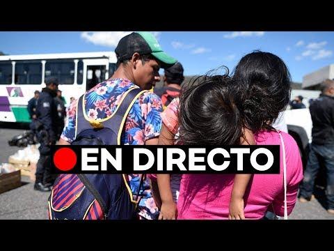 🔴 EN DIRECTO: Autocares llevan a la caravana de migrantes hasta Tijuana