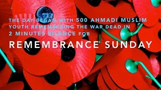 Mercy4Mankind Manchester: 500 Muslim Youth remember the fallen on Rememberance Sunday