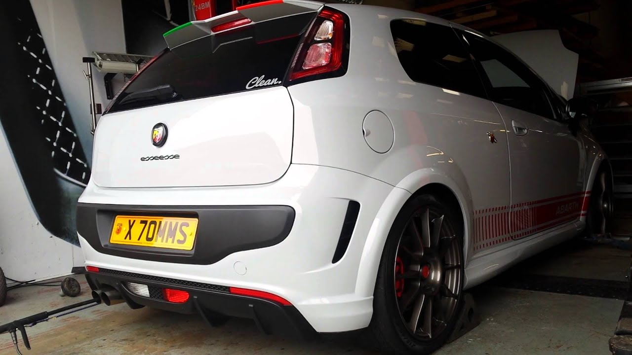 abarth punto evo ss rolling road youtube. Black Bedroom Furniture Sets. Home Design Ideas