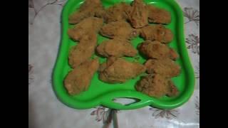 Куриные крылья в панировке.  Очень вкусно и быстро.