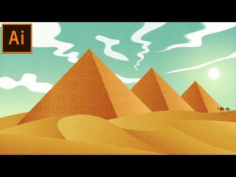 Egyptian Pyramid Illustration | Illustrator Tutorial | Wednesday Wonders #4: Egypt