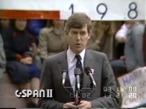 1988 Gary Hart announces candidacy for President