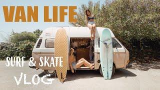 SOLO VAN LIFE GIRL | Day In The Life Surf & Skate In Spain